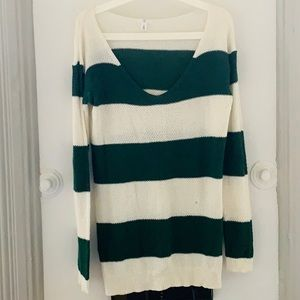 Varsity Knit Longline Knit Sweater from BP